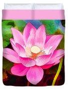 Beautiful Pink Lilies Duvet Cover