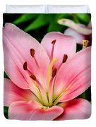 Beautiful Pink Lily Duvet Cover