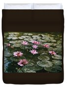Beautiful Pink Lotus Water Lilies Bloom Duvet Cover