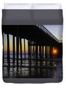 Beautiful Pismo Beach Sunset Duvet Cover