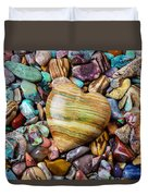 Beautiful Polished Colorful Stones Duvet Cover