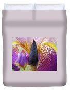 Beautiful Purple Iris Flowwer Floral Art Print Baslee Troutman Duvet Cover