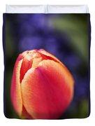 Beautiful Red And Orange Colored Tulip  Duvet Cover