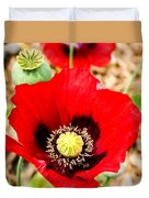 Beautiful Red Poppy Duvet Cover