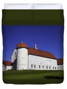 Beautiful Red Roof Barn Duvet Cover