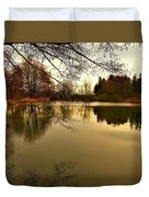 Beautiful Reflection In The Evening Hours Duvet Cover