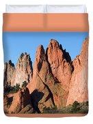 Beautiful Sandstone Spires In Garden Of The Gods Park Duvet Cover
