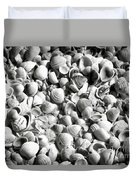Beautiful Seashells Black And White Duvet Cover