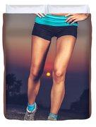 Beautiful Sportive Womens Legs Duvet Cover