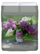 Beautiful Spring Flowers In A Vase Duvet Cover