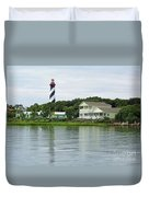 Beautiful St Augustine Lighthouse Waterfront Duvet Cover