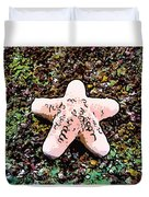 Beautiful Starfish In The Coral Reef Duvet Cover