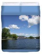 Beautiful Summerday At Lake Winnipesaukee Duvet Cover