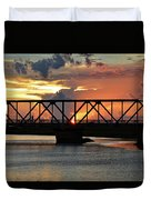 Beautiful Sunset Bridge  Duvet Cover