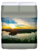 Beautiful Sunset Over Lake Wylie South Carolina Duvet Cover