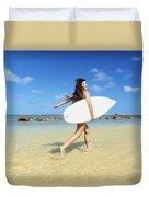Beautiful Surfer Girl Duvet Cover