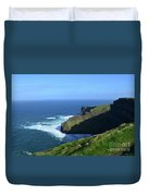 Beautiful Sweeping Views Of Ireland's Cliff's Of Moher Duvet Cover