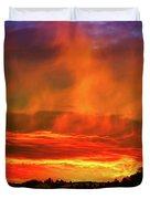 Beautiful Utah Sunset Duvet Cover