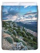 Beautiful View Of Baunei Duvet Cover