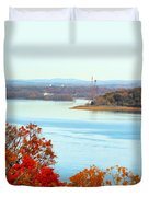 Beautiful View Of The Hudson River 1 Duvet Cover