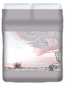 Beautiful Village By Day Duvet Cover