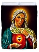 Beautiful Virgin Mary Sacred Heart Duvet Cover
