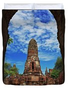 Beautiful Wat Phra Ram Temple In Ayutthaya, Thailand  Duvet Cover