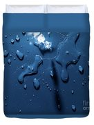 Beautiful Water Splashes Viewed From Above Duvet Cover