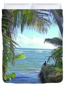 Beautiful Waters Of Puerto Rico Duvet Cover