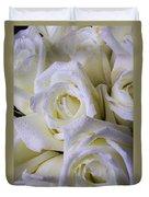 Beautiful White Roses Duvet Cover