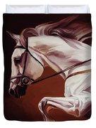 Beautiful White Running Horse 9iu Duvet Cover