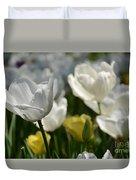 Beautiful White Tulips Duvet Cover
