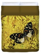 Beautiful Wings On Yellow Mums Duvet Cover