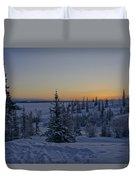 Beautiful Winter Sunrise Duvet Cover