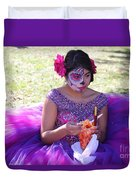 Beautiful Woman Day Of Dead IIi Duvet Cover