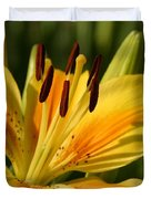 Beautiful Yellow Lily Duvet Cover