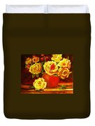 Beautiful Yellow Roses Duvet Cover