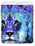 Beauty And The Beast - Lion Art - Sharon Cummings Duvet Cover