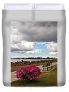 Beauty And The Bench Duvet Cover
