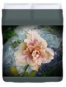 Beauty And The Boulder - Daylily Duvet Cover