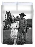 Beauty And The Cowboy Duvet Cover