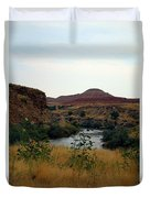 Beauty At The Big Horn River Duvet Cover