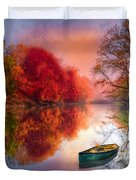 Beauty At The Lake Duvet Cover by Debra and Dave Vanderlaan