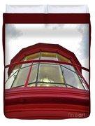 Beauty In The Lighthouse Lens Duvet Cover