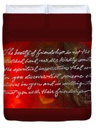 Beauty Of Friendship Duvet Cover