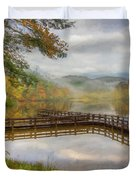 Beauty Of The Lake Oil Painting  Duvet Cover