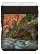 Beauty Of The Narrows Duvet Cover