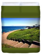 Beauty Of The Pacific Grove Shoreline Two Duvet Cover