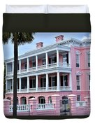 Beauutiful Pink Colonial Style Mansion Duvet Cover