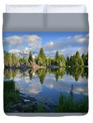 Beaver Dam Reflection In Grand Teton Np Duvet Cover
